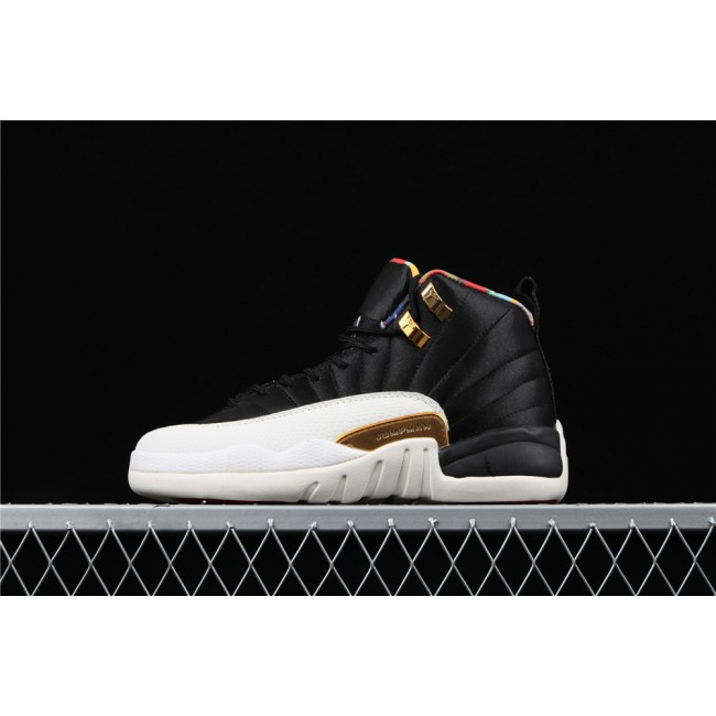 Women Air Jordan 12 Retro Prm Black White