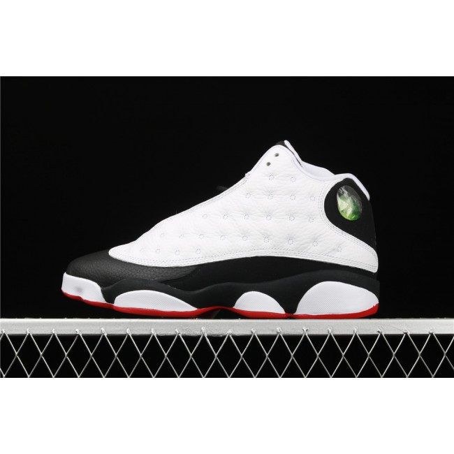 Men & Women Air Jordan 13 Retro He Got Game In Black White