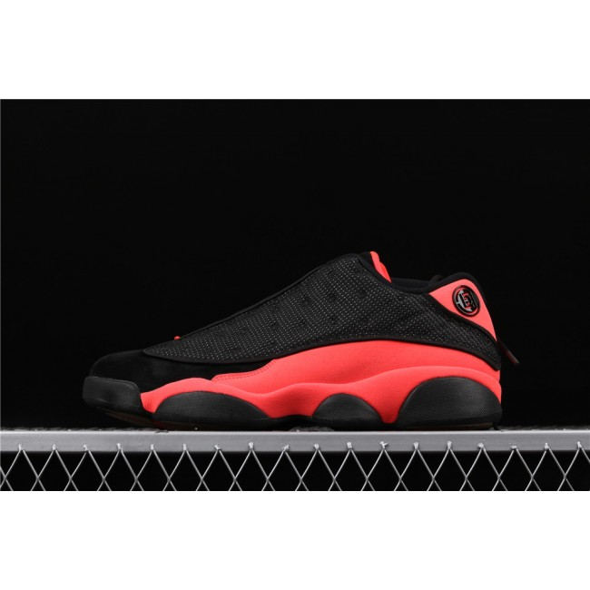 Men & Women Clot x Air Jordan 13 Low Infra Bred In Red Black