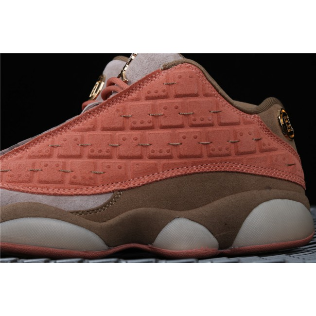 Men & Women Clot x Air Jordan 13 Low Terracotta Warrior