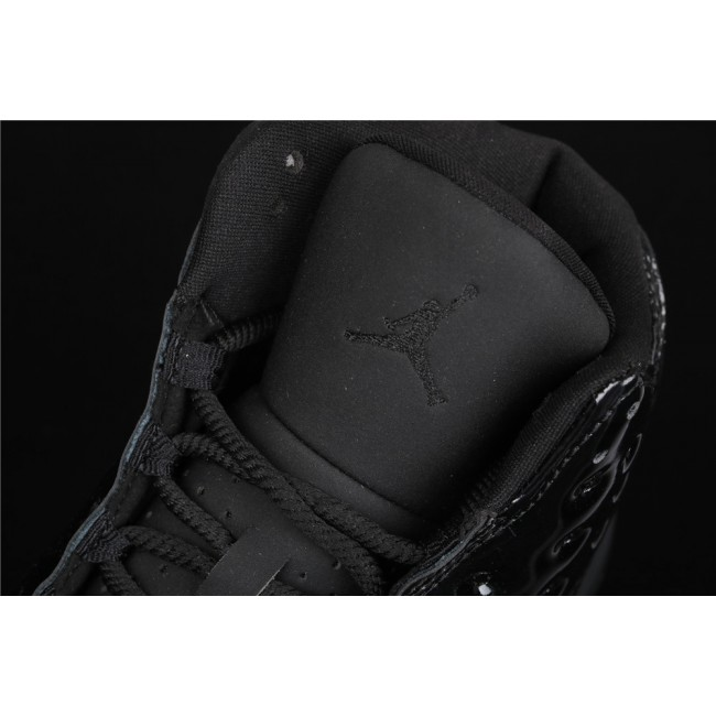 Men Nike Air Jordan 13 Cap and Gown In Black
