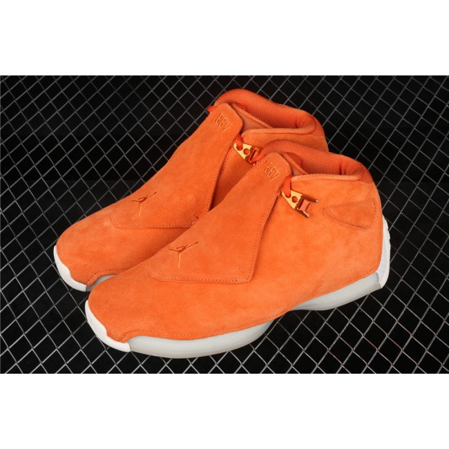 Men Air Jordan 18 OG ASG In Orange