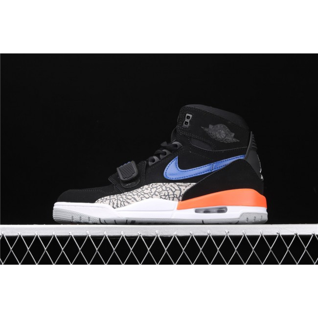 Men & Women Air Jordan Legacy 312 In Black Blue Logo