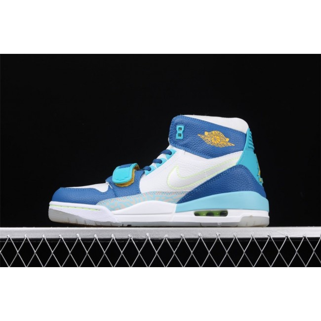 Men & Women Air Jordan Legacy 312 In White Blue