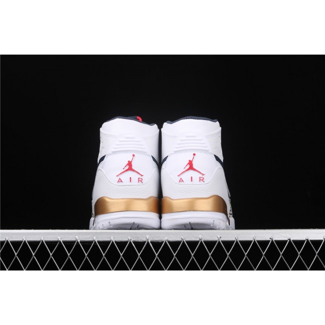 Men & Women Air Jordan Legacy 312 In White Blue Golden