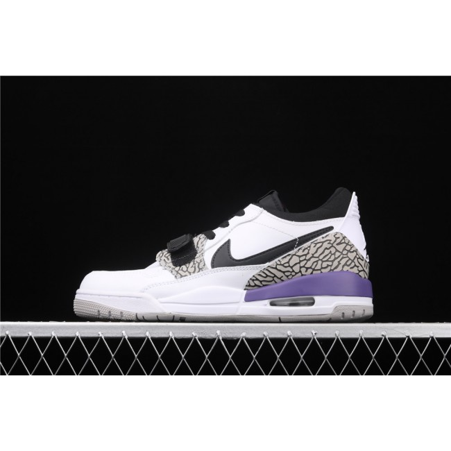 Men & Women Air Jordan Legacy 312 Low In White Black Logo