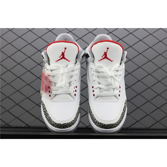 Men Air Jordan 3 JTH NRG Tinker Hartfield In White