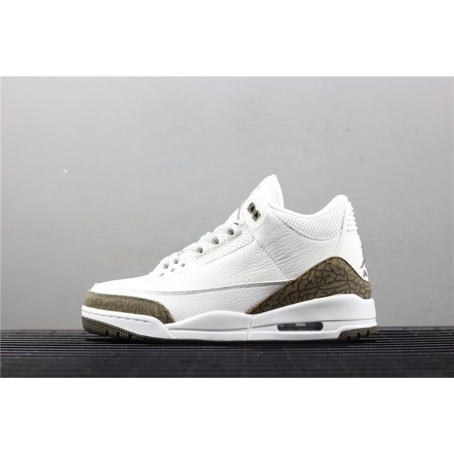 Men Air Jordan 3 Mocha In White