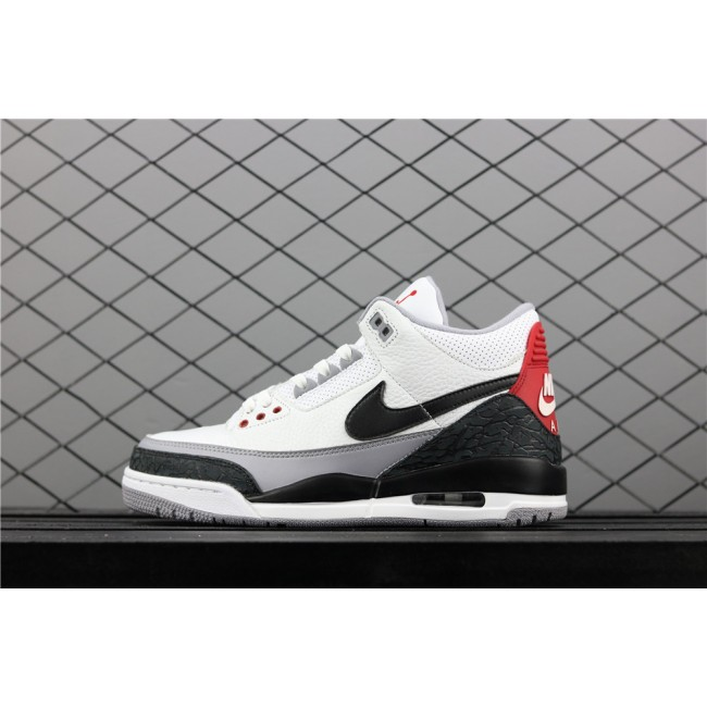 Men Air Jordan 3 Tinker NRG In White Black