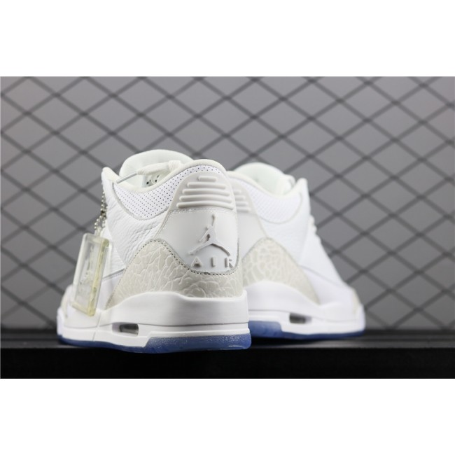 Men Air Jordan 3 Triple Burst In White
