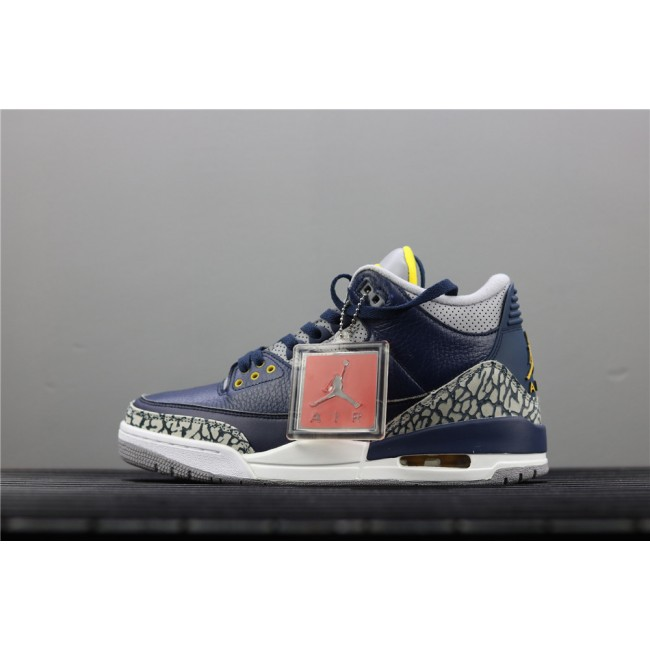 Men Air Jordan 3 UNC PE Burst In Blue