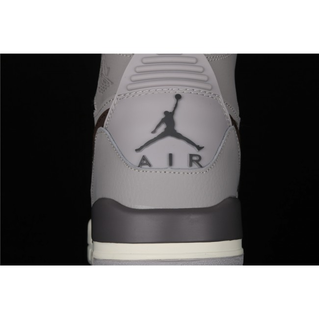 Men Air Jordan Legacy 312 In Gray Chocolate Logo