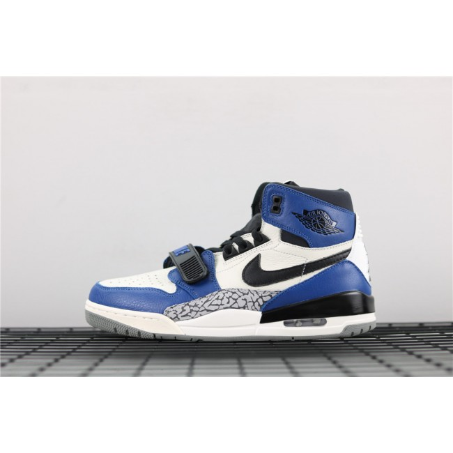 Men Air Jordan Legacy 312 NRG Storm In Blue White Black Logo