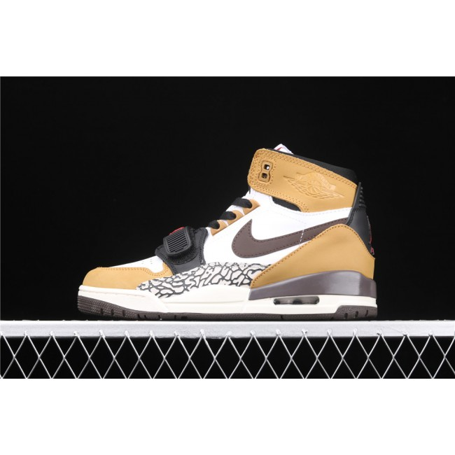 Men Air Jordan Legacy 312 NRG Storm In White Yellow Chocolate Logo