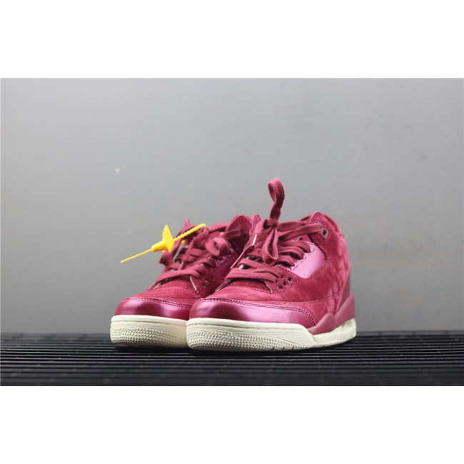 Women Air Jordan 3 Bordeaux In Wine