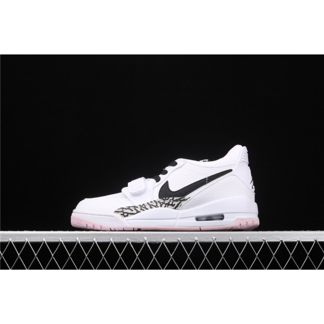 Women Air Jordan Legacy 312 Low In White Pink