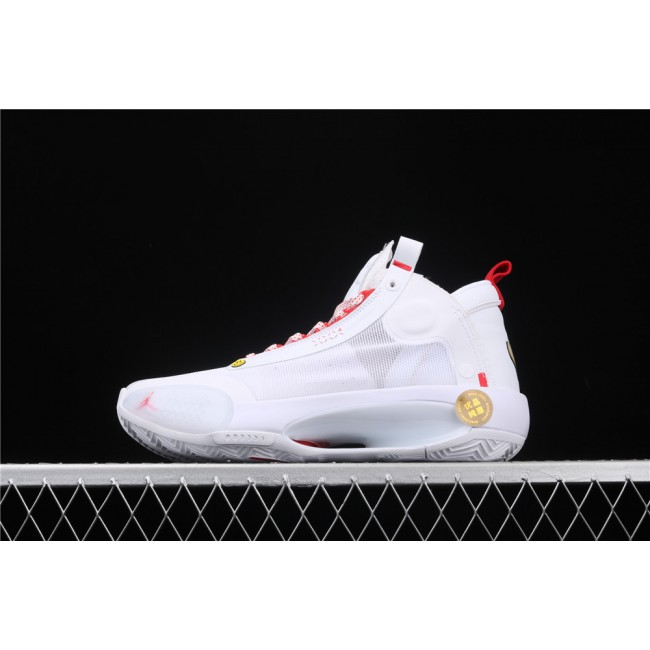 Men Air Jordan 34 Eclipse In White Red