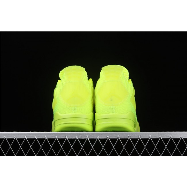 Men Air Jordan 4 Flyknit In Fluorescent Green