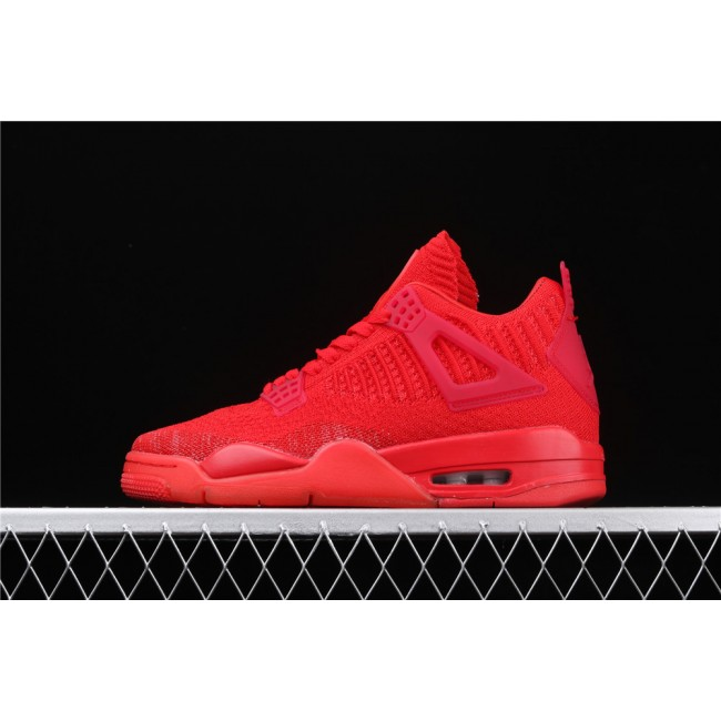 Men Air Jordan 4 Flyknit In Light Red