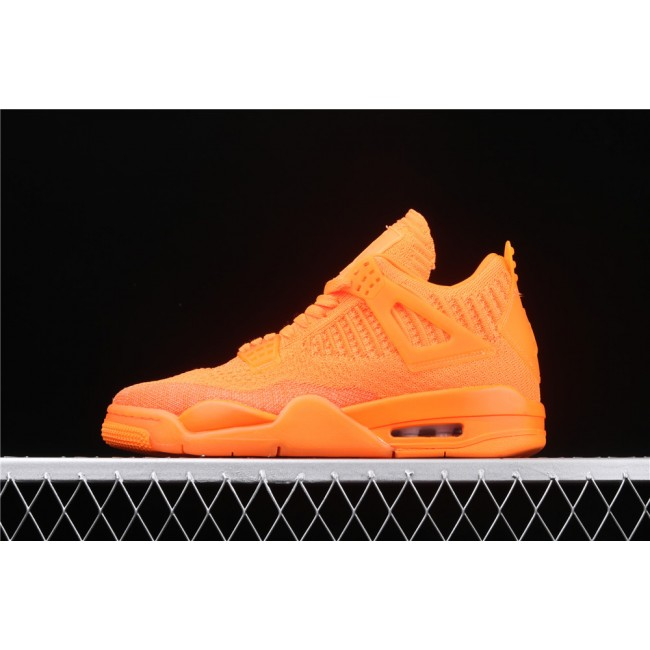 Men Air Jordan 4 Flyknit In Orange