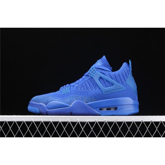 Men Air Jordan 4 Flyknit In Sea Blue