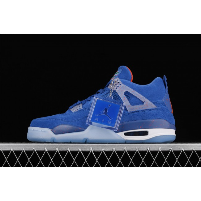 Men Air Jordan 4 Retro Flight In Blue