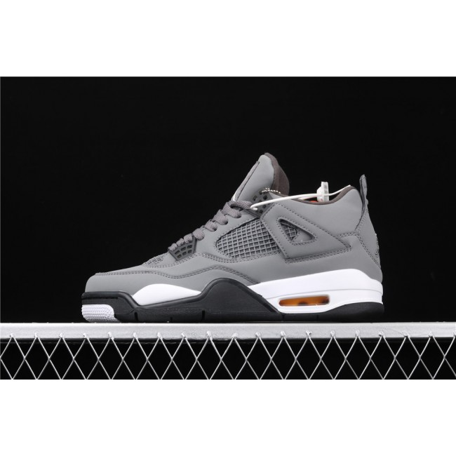 Men Air Jordan 4 Retro Flight In Cool Grey