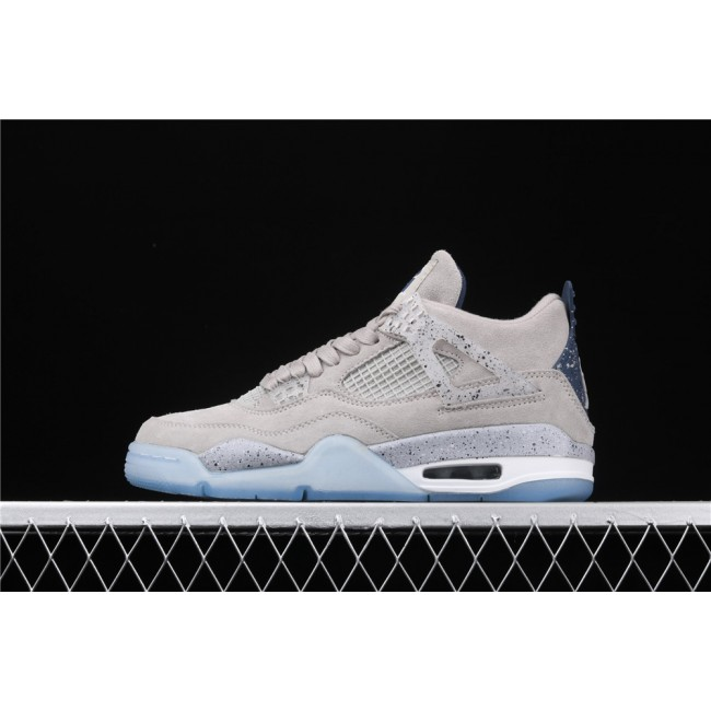 Men Air Jordan 4 Retro Flight In Gray