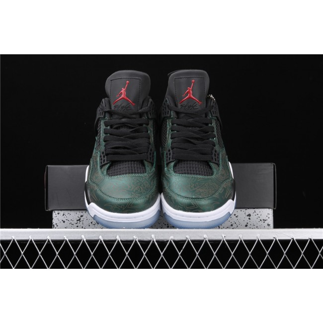Men Air Jordan 4 Retro Flight In Metal Green