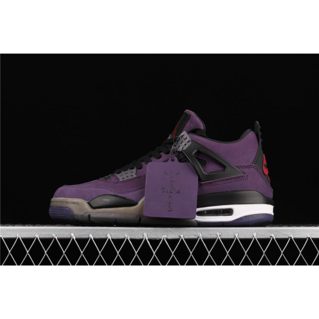 Men Air Jordan 4 Retro Flight In Purple