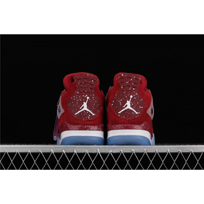 Men Air Jordan 4 Retro Flight In Red