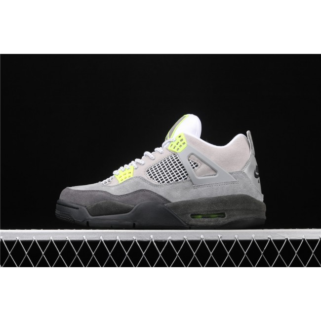 Men Air Jordan 4 SE Air Max 95 Neon In Gray