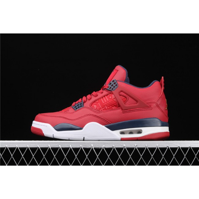 Men Air Jordan 4 SE FIBA Flight In Red White