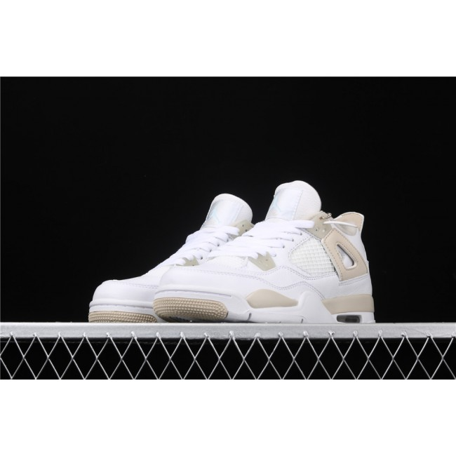 Women Air Jordan 4 Retro Linen In White Sand