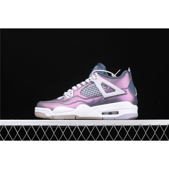 Women Air Jordan 4 Retro Monsoon In Metal Purple