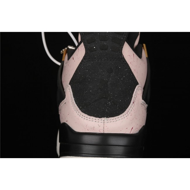 Women Air Jordan 4 Silt Red Flight In Pink Black