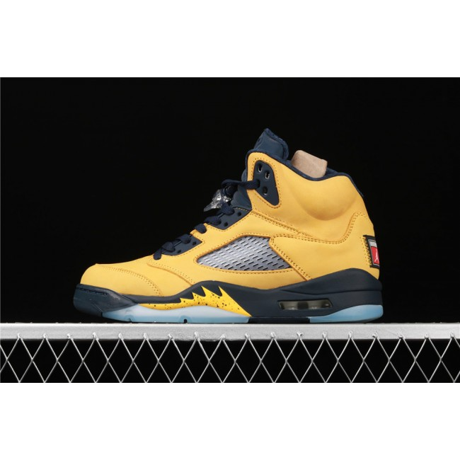 Men Air Jordan 5 SP Michigan Yellow