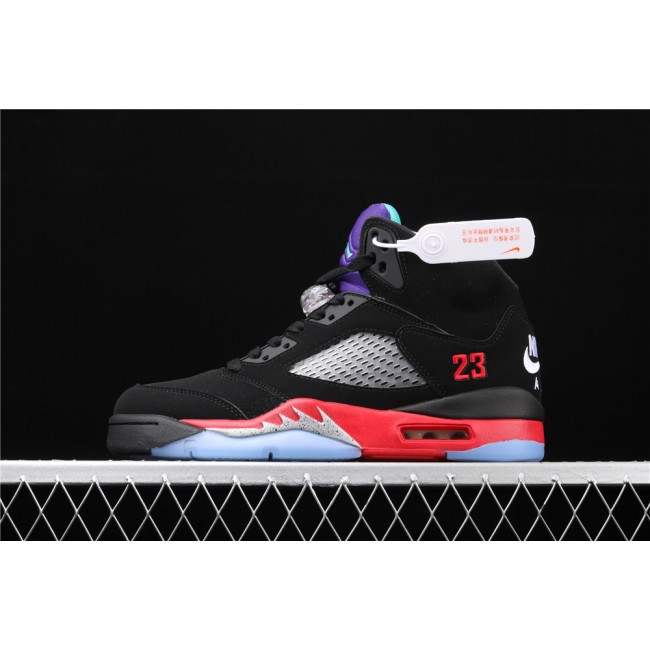 Men Air Jordan 5 Top 3 Purple Black Red