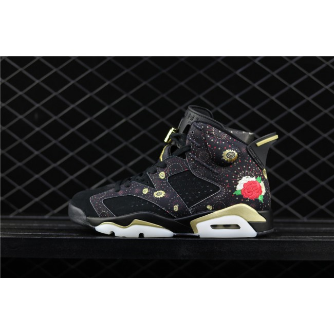 Men & Women Air Jordan 6 Chinese New Year In Black