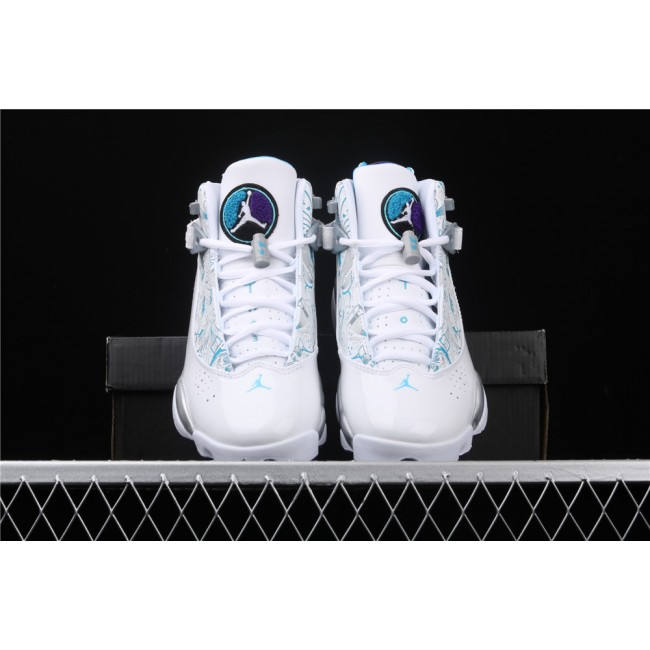 Men & Women Air Jordan 6 Rings Concord XIolympic In White Silver