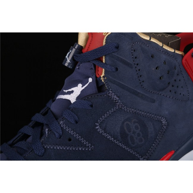 Men Air Jordan 6 DB Doernbecher In Deep Blue