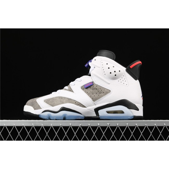 Men Air Jordan 6 FLINT In White Gray