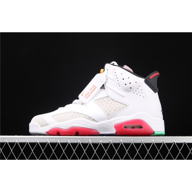 Men Air Jordan 6 Hare In White Light Gray