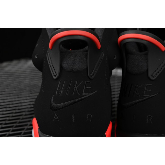 Men Air Jordan 6 Infrared 3M In Black Red