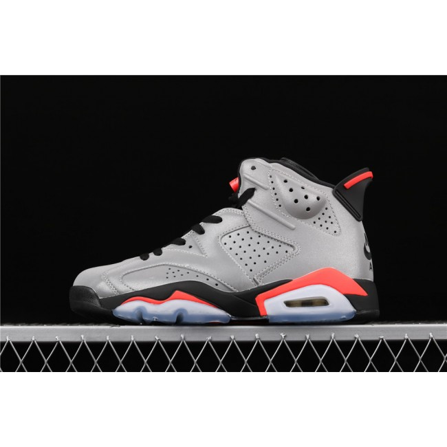 Men Air Jordan 6 JSP Reflective Silver In Dark Gray