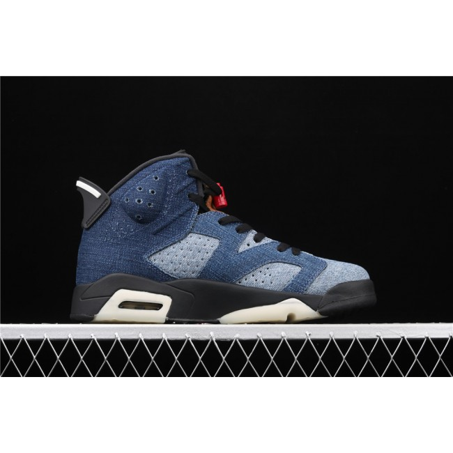 Men Air Jordan 6 Retro Denim In Blue