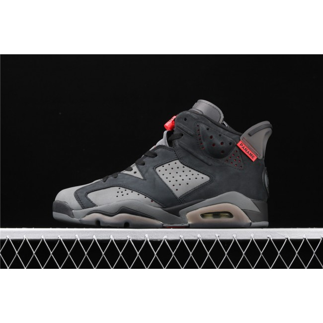 Men PSG x Air Jordan 6 Retro In Dark Gray