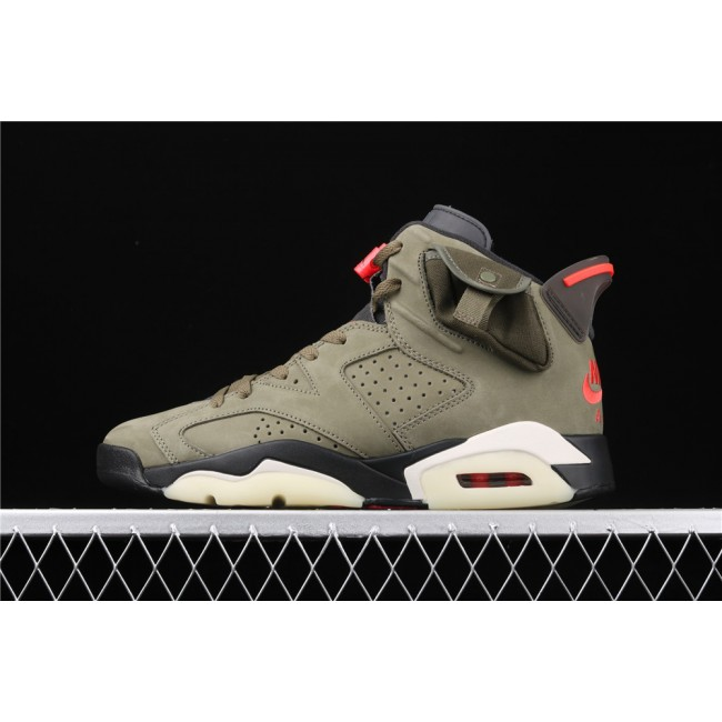 Men Travis Scott x Air Jordan 6 TS In Army Green