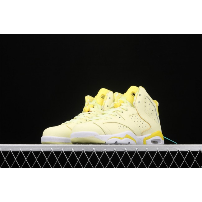 Women Air Jordan 6 GS In Lemon Yellow