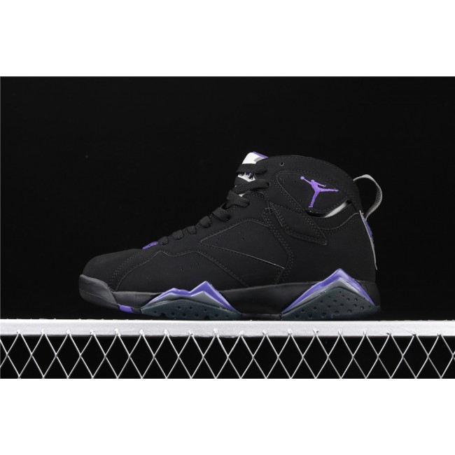 Men Air Jordan 7 Ray Allen Bucks Black Purple